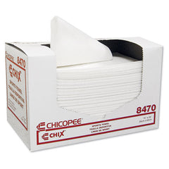 Chix® Sports Towels, 14 x 24, White, 100 Towels/Pack, 6 Packs/Carton