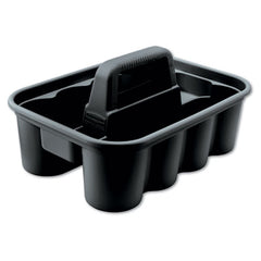 Rubbermaid® Commercial Deluxe Carry Caddy, 8-Comp, 15w x 7 2/5h, Black