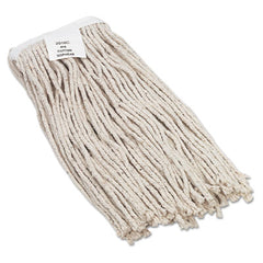 Boardwalk® Cut-End Wet Mop Heads, Value Standard Head, Rayon Fiber, Cut-End, Size No. 16, WE, 12/Carton