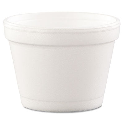 Dart® Foam Container, Foam, 4oz, White, 1000/Carton Food Containers-Takeout Bowl/Base, Foam - Office Ready