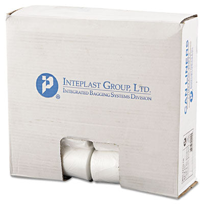 Bags-Waste Can Liner - Inteplast Group Low-Density Commercial Can Liners 24 x 33, 16gal, .35mil, Clear, 50/Roll, 20 Rolls/Carton - Office Ready - 1