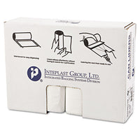 Inteplast Group High-Density Interleaved Commercial Can Liners 33 x 40, 33gal, 17mic, Clear, 25/Roll, 10 Rolls/Carton Bags-Waste Can Liner - Office Ready