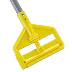 Rubbermaid® Commercial Invader® Side-Gate Wet-Mop Handle, 1 dia x 54, Gray/Yellow