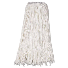 Boardwalk® Cut-End Wet Mop Heads, Premium Standard Head, Rayon Fiber, 32oz, White, 12/Carton