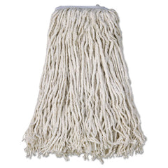 Boardwalk® Cotton Mop Heads, Cut-End, #32, White, 12/Carton