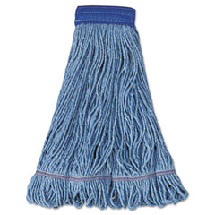 Boardwalk® Super Loop Wet Mop Head, Cotton/Synthetic Fiber, X-Large, Blue, 12/Carton