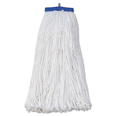 Boardwalk® Cut-End Lie-Flat Economical Mop Head Economical Lie-Flat Head, Rayon Fiber, 20oz, White, 12/Carton