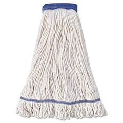 Boardwalk® Super Loop Wet Mop Head Super Loop Head, Cotton/Synthetic Fiber, X-Large, White, 12/Carton