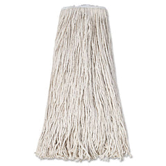 Boardwalk® Cut-End Wet Mop Heads Premium Standard Head, Cotton Fiber, 32oz, White, 12/Carton
