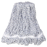 Rubbermaid® Commercial Web Foot® Premium Finish Mop Heads, White, Med, Cotton/Synthetic, 1