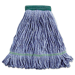 Boardwalk® Super Loop Wet Mop Head Cotton/Synthetic, Medium Size, Blue