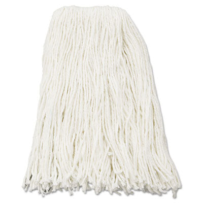 Mop Heads-Wet - Boardwalk® Cut-End Wet Mop Heads Rayon, 16oz, White, 12/Carton - Office Ready - 1
