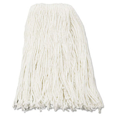 Boardwalk® Cut-End Wet Mop Heads Rayon, 16oz, White, 12/Carton