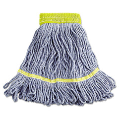 Boardwalk® Super Loop Wet Mop Head Cotton/Synthetic, Small Size, Blue