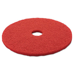 "3M™ Red Buffer Floor Pads 5100, 20"" Diameter, Red, 5/Carton"