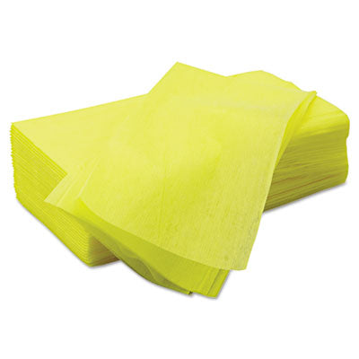 Chix® Masslinn® Dust Cloths 22 x 24, Yellow, 150/Carton Towels & Wipes-Disposable Dry Wipe - Office Ready