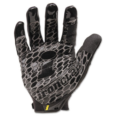 Gloves-Work, Fabric - Ironclad Box Handler Gloves Black, X-Large, Pair - Office Ready - 1