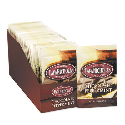 PapaNicholas® Premium Hot Cocoa, Chocolate Peppermint, 24/Carton Beverages-Hot Chocolate - Office Ready