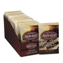 PapaNicholas® Premium Hot Cocoa Dutch Chocolate, 24/Carton