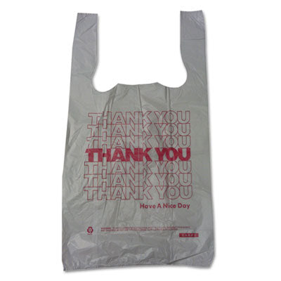Barnes Paper Company Plastic Thank-You T-Sack, 6