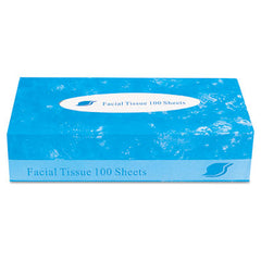 GEN Facial Tissue, 2-Ply, White, 100 Sheets/Box