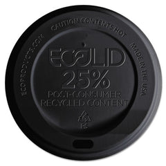 Eco-Products® EcoLid® 25% Recycled Content, Black, F/10-20oz, 100/PK, 10 PK/CT