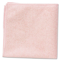 Rubbermaid® Commercial Microfiber Cleaning Cloths 16 x 16, Pink, 24/Pack Towels & Wipes-Washable Cleaning Cloth - Office Ready