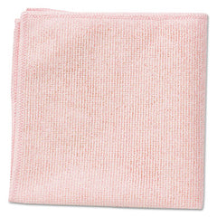 Rubbermaid® Commercial Microfiber Cleaning Cloths 16 x 16, Pink, 24/Pack
