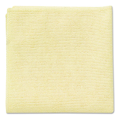 Towels & Wipes-Reusable - Rubbermaid® Commercial Microfiber Cleaning Cloths 16 x 16, Yellow, 24/Pack - Office Ready