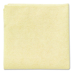 Rubbermaid® Commercial Microfiber Cleaning Cloths 16 x 16, Yellow, 24/Pack