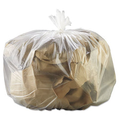 GEN High Density Can Liners 33 x 39, 33gal, 13mic, Natural, 25 Bags/RL, 10 Rolls/CT