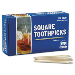 "Royal Wood Toothpicks, 2 3/4"", Natural, 800/Box, 24 Boxes/Carton"