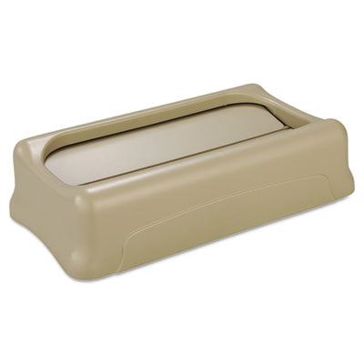 Rubbermaid® Commercial Slim Jim® Swing Lid, 11.38w x 20.5d x 5h, Beige Waste Receptacle Lids-Swing-Top Lids - Office Ready