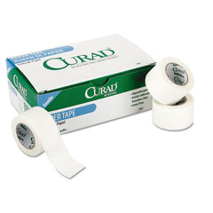 "Curad® Paper Adhesive Tape 1"" x 10 yds, White, 12/Pack"