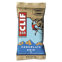 CLIF® Bar Energy Bar, Chocolate Chip, 2.4oz, 12/Box