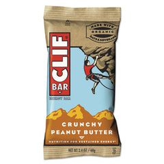 CLIF® Bar Energy Bar, Crunchy Peanut Butter, 2.4oz, 12/Box