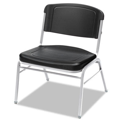 Iceberg Rough 'N Ready Big & Tall Stack Chair Black/Silver, 4/Carton Chairs/Stools-Folding/Nesting Chair - Office Ready