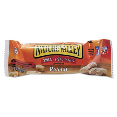 Nature Valley Granola Bars Sweet & Salty Nut Peanut Cereal, 1.2oz Bar, 16/Box Food-Cereal Bar - Office Ready