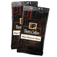 Beverages-Coffee, Fraction Pack - Peet's Coffee & Tea® Coffee Major Dickason's Blend, 2.5 oz Frack Pack, 18/Box - Office Ready