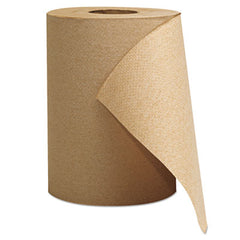"GEN Hardwound Roll Towels, 1-Ply, Brown, 8"" x 300 ft, 12 Rolls/Carton"