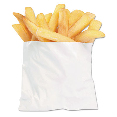 Bagcraft French Fry Bags, 4 1/2 x 2 x 3 1/2, White, 2000/Carton Bags-POS Foodservice Bags - Office Ready