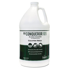 Fresh Products Bio Conqueror 105 Enzymatic Odor Counteractant Concentrate, Cucumber Melon, 1gal, Bottle, 4/Carton
