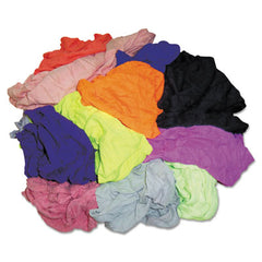 HOSPECO® New Colored Knit Polo T-Shirt Rags, Assorted Colors, 10 Pounds/Bag