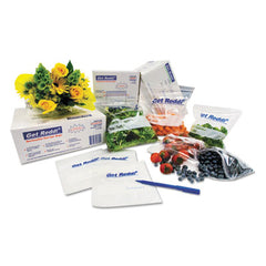 Inteplast Group Food Bags 10 x 8 x 24, 22-Quart, 0.85 Mil, Clear, 500/Carton