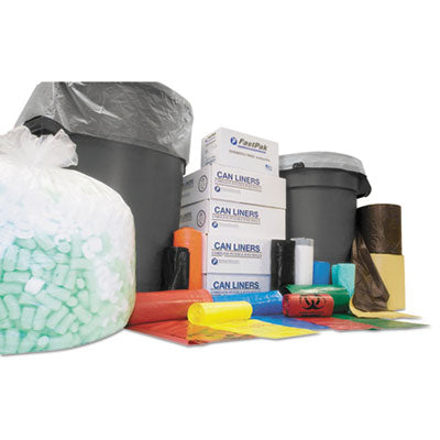 Bags-Waste Can Liner - Inteplast Group High-Density Commercial Can Liners Value Pack 43 x 46, 56 Gallon, 11 mic, Clear, 25/Roll - Office Ready - 1
