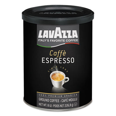 Lavazza Caffe Espresso Ground Coffee Dark Roast, 8 oz Can Beverages-Coffee, Bulk Ground - Office Ready