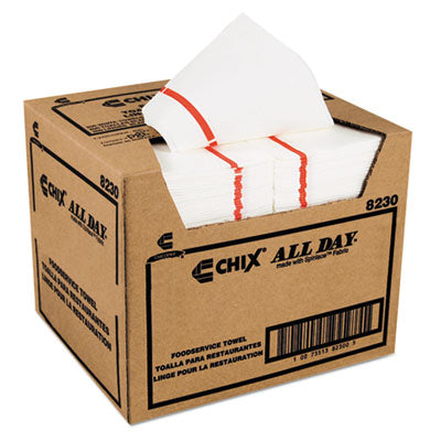 Chix® Chicopee® All Day™ Service Towels, 12 1/4 x 21, 200/Carton Towels & Wipes-Disposable Dry Wipe - Office Ready