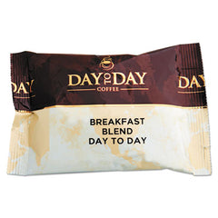 Day to Day Coffee® 100% Pure Coffee Breakfast Blend, 1.5 oz Pack, 42 Packs/Carton