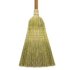 "Boardwalk® Corn/Fiber Brooms, 60"", Gray/Natural, 6/Carton"
