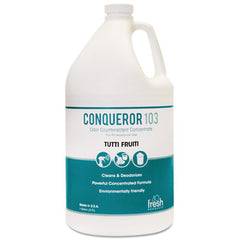 Fresh Products Conqueror 103 Odor Counteractant Concentrate, Tutti-Frutti, 1 gal Bottle, 4/CT